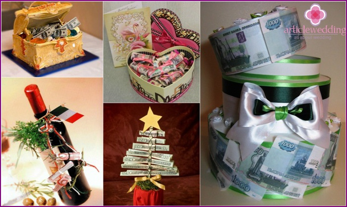 Unusual cash gifts to newlyweds