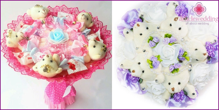 Bouquets of soft toys