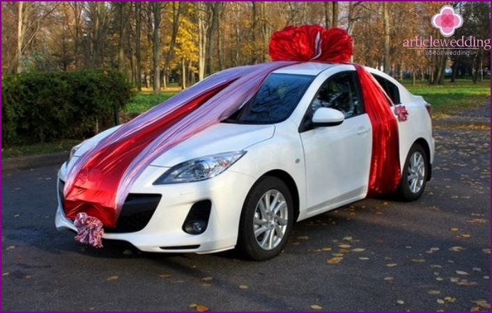The car in a gift to the newlyweds