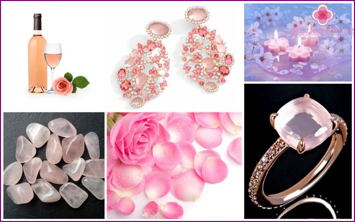 What to give to his wife on a pink wedding