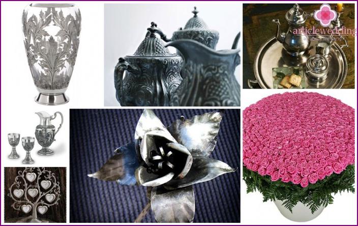 Gift Ideas friends on pewter wedding