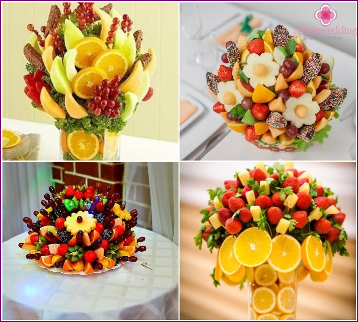 The original fruit bouquet in the bride gift