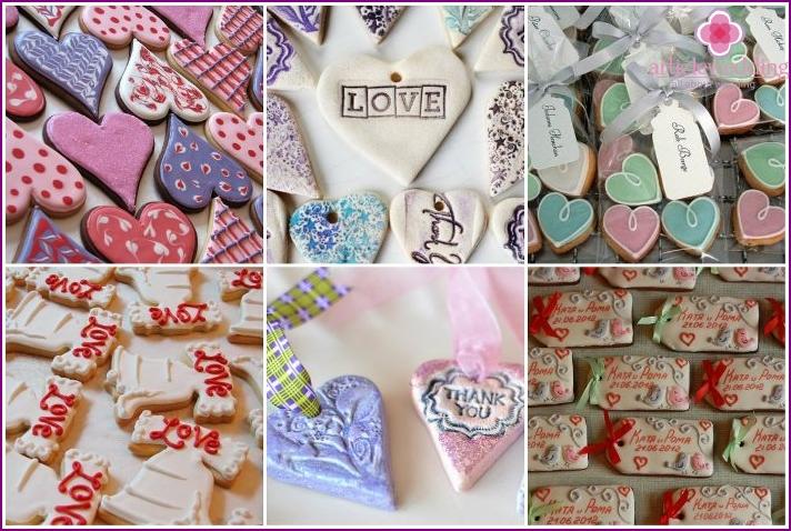 Wedding candy boxes of dough