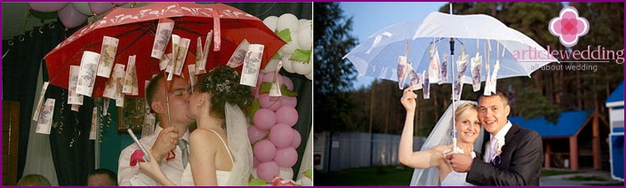 Money umbrella for wedding
