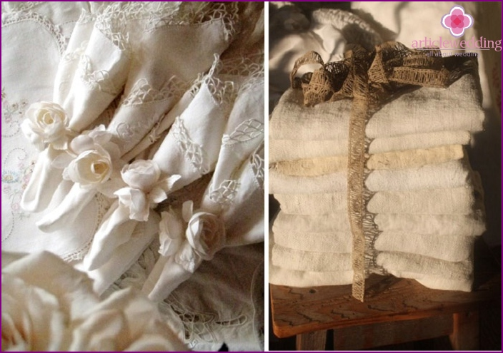 Linen sets on the anniversary
