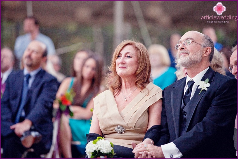 Parents at the wedding