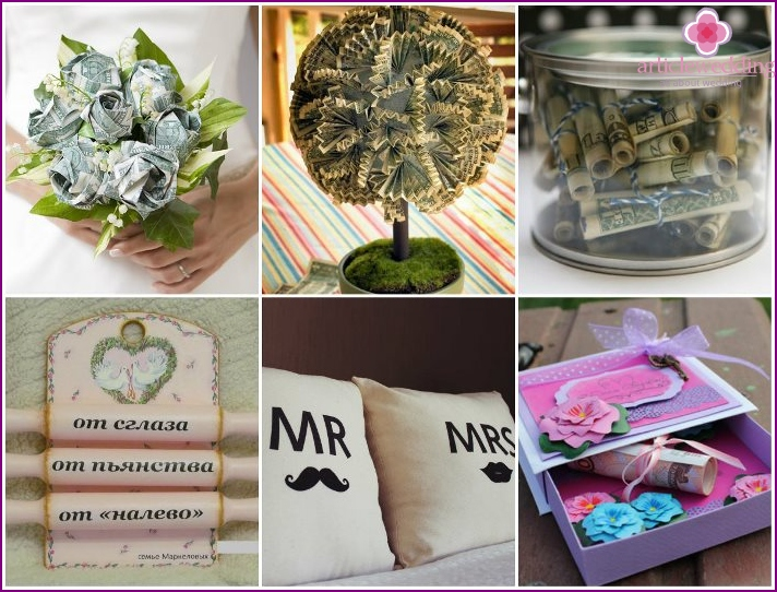 A selection of gifts fun wedding