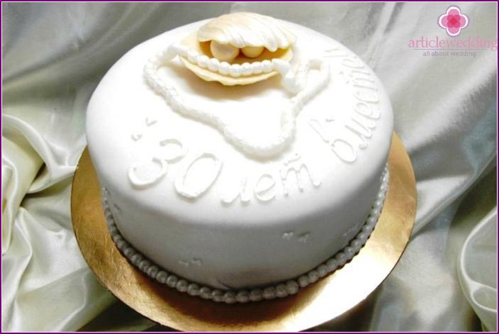 Great cake for thirty years anniversary