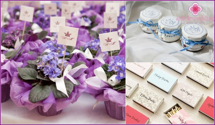 Beautiful gifts for wedding guests