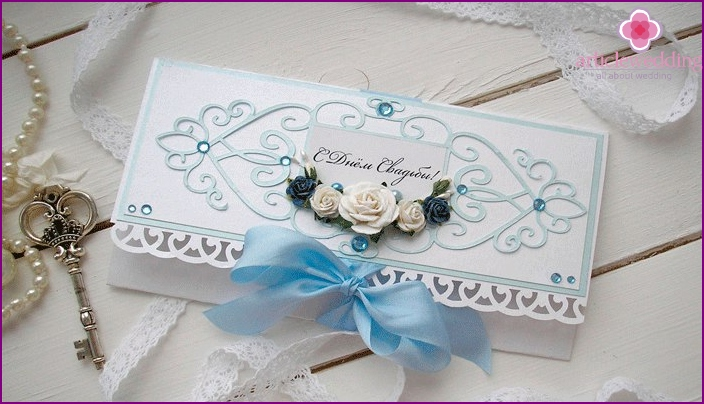 Gift option in the style of scrapbooking
