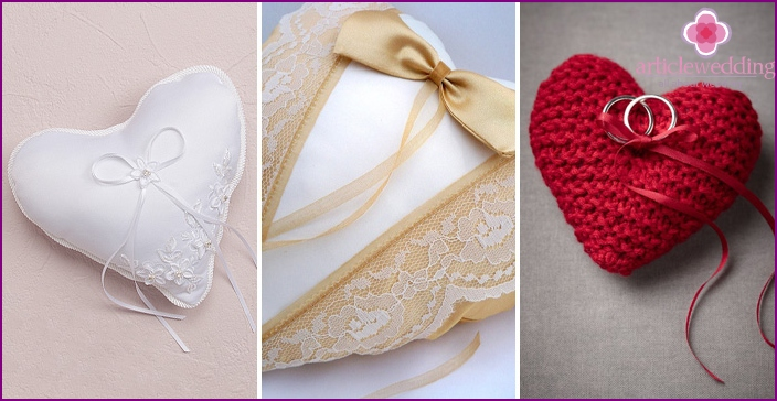 Wedding accessories in the form of heart