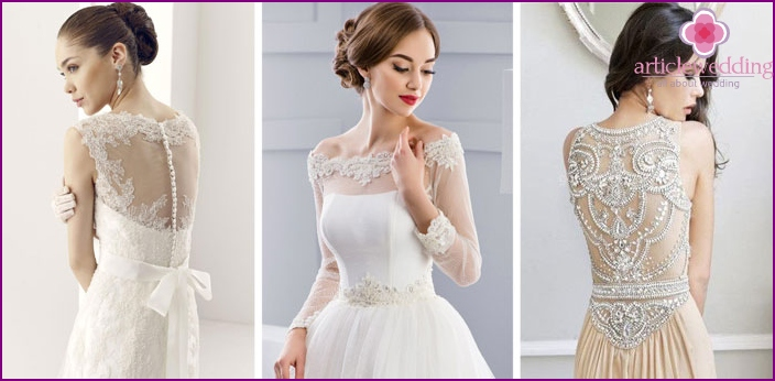 Wedding dresses, beaded