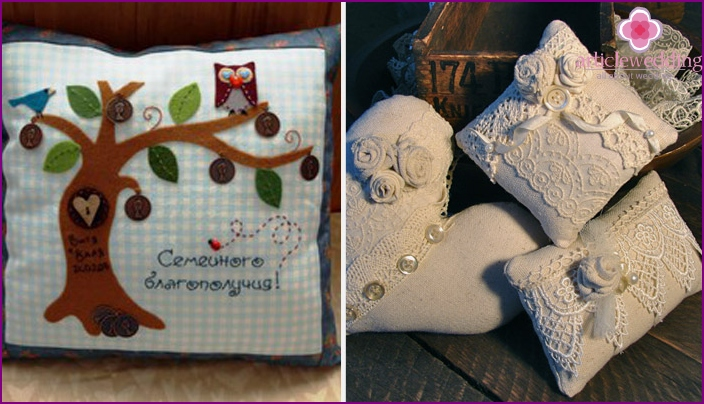 Homemade cushions