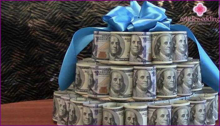 Cash Wedding Cake