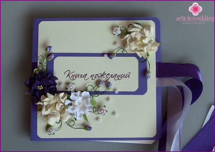 Wedding book handmade