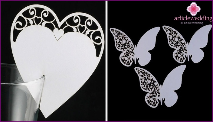 Patterns in the form of butterflies and hearts