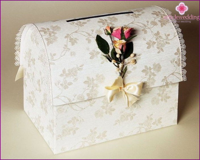 Ready wedding chest for money with their own hands