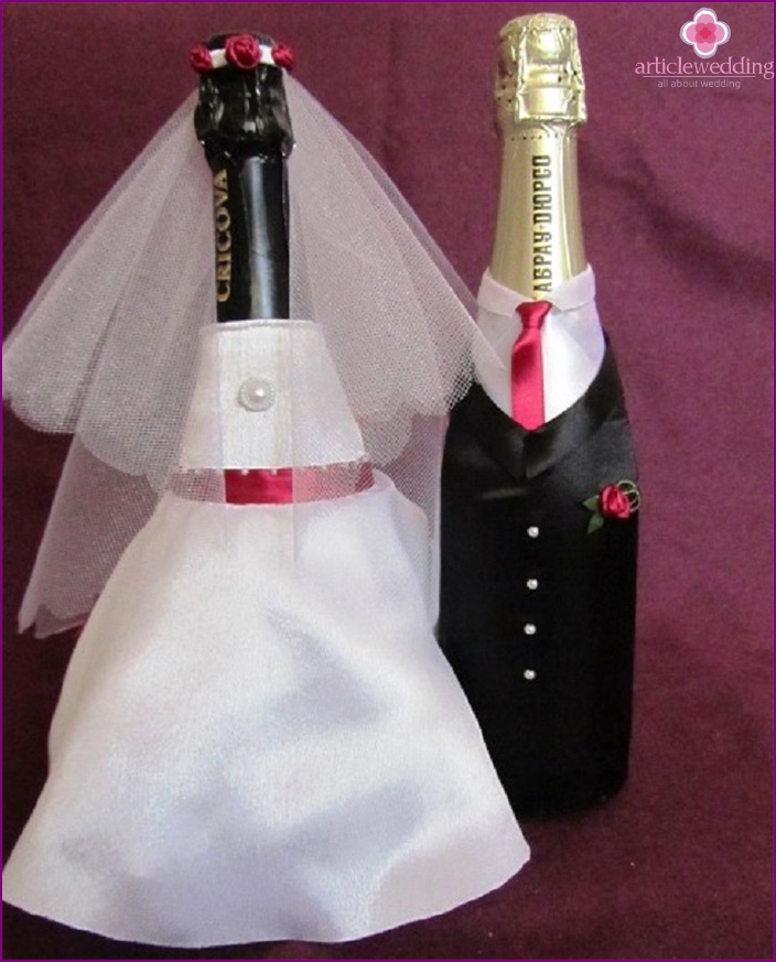 Clothes for the wedding champagne