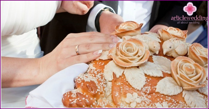 Baked loaf - a great wedding feast dish
