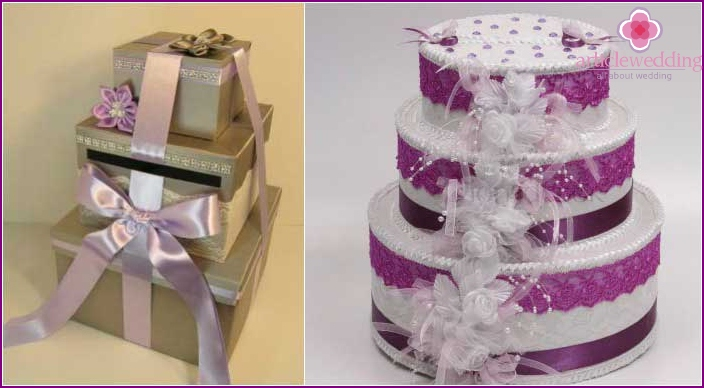 The shape of the trunk: a delicious multi-tiered cake