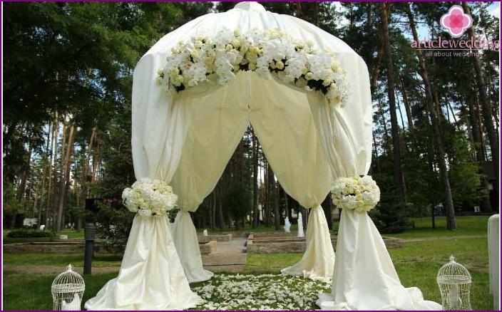 Arch in a gazebo