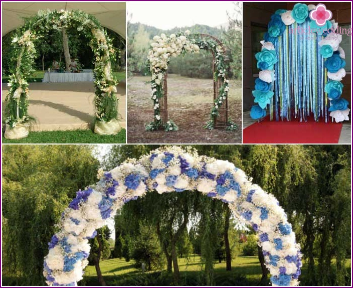 Various options arches decor