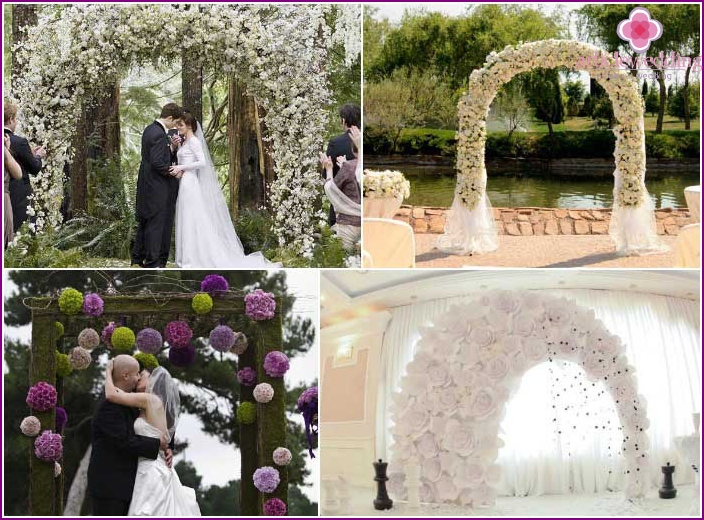 Beautiful handmade wedding arch
