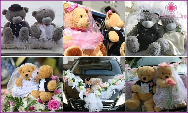 Toys for decorating the wedding car