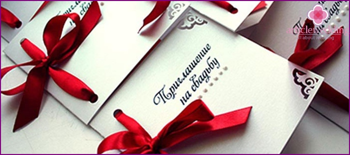 Wedding invitation with your own hands