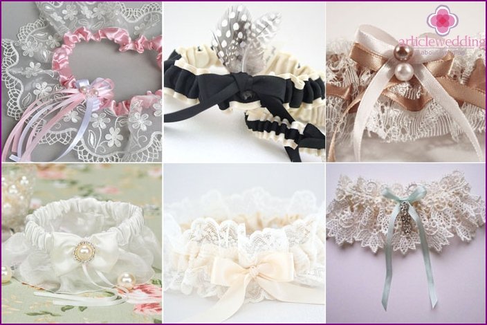 Original and unique wedding garter
