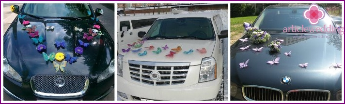 Butterflies - Decoration for wedding car