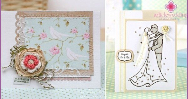 Сделать оригинальную открытку на свадьбу своими руками