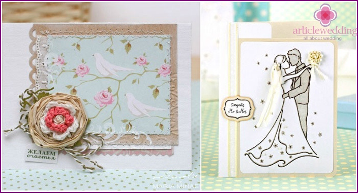 Wedding greeting card with your own hands