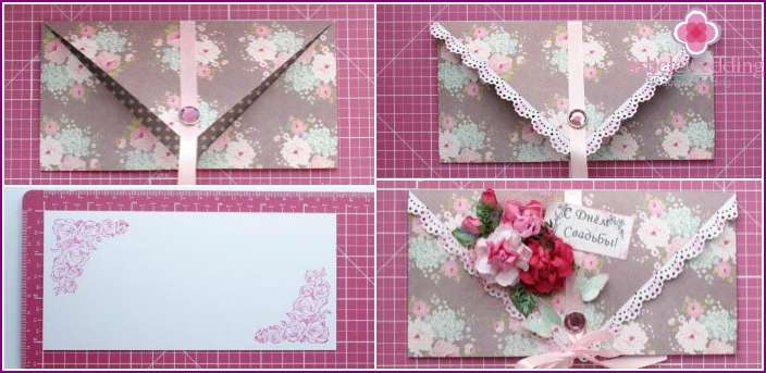 Making wedding envelope