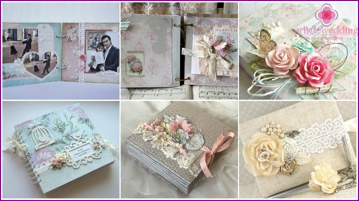 Shabby Chic Wedding Album