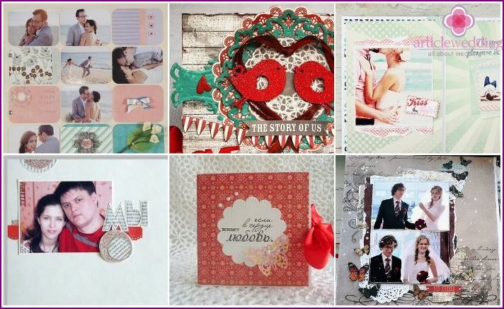 Scrap album in European style for a wedding
