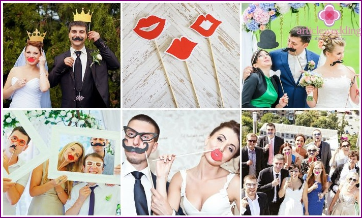 Accessories for wedding shooting various shapes