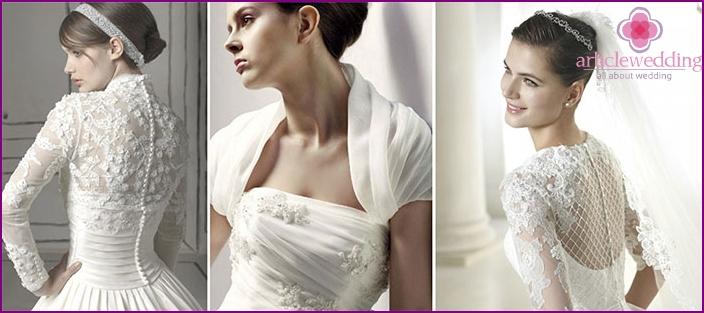 What does the bride's bolero