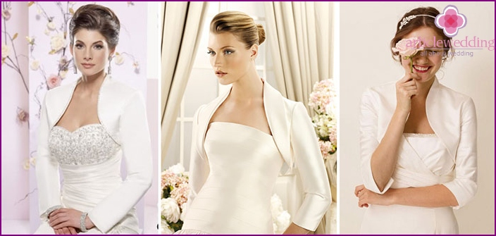 Satin Bridal jacket
