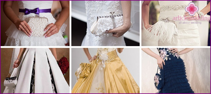 A variety of handbags brides