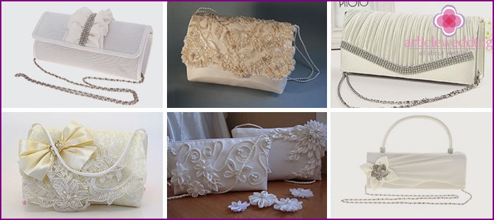 Wedding handbags-envelopes on a chain