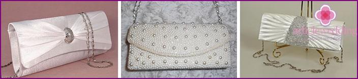 Handbags envelopes for the bride