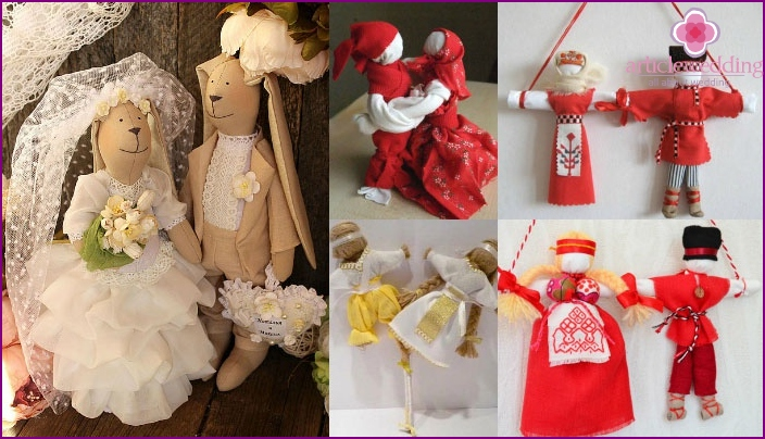 Variants of wedding dolls
