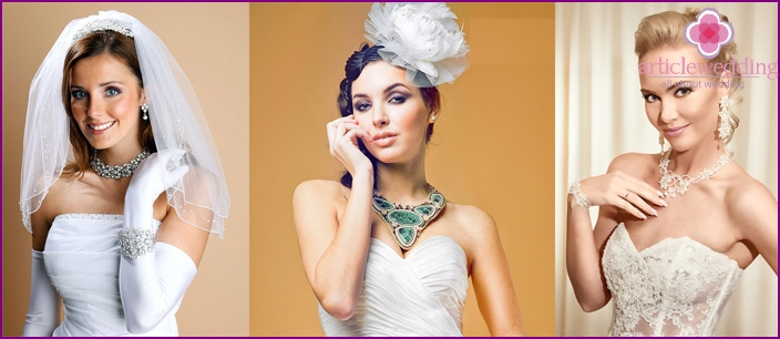 Jewelry is emphasized bride charm