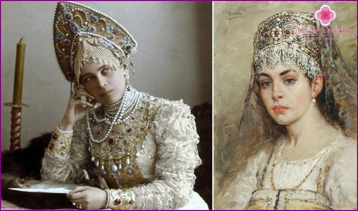 Bride of years ago in Pearl Jewelry