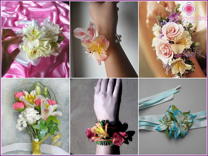 Bracelet on hand to witness with roses