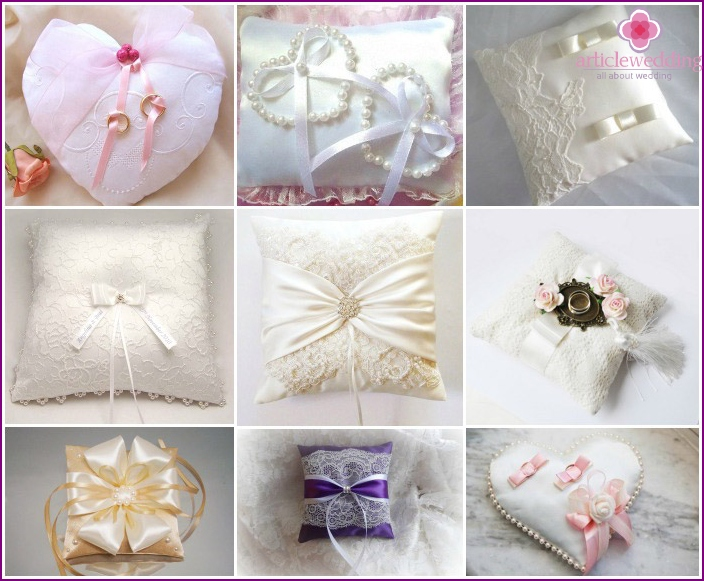 Types of pillows for rings