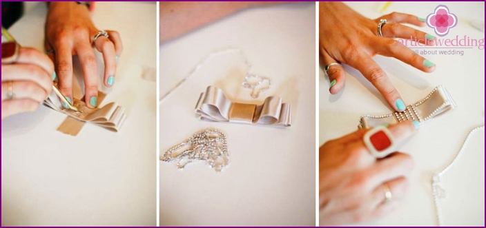 Decorate bow rhinestones