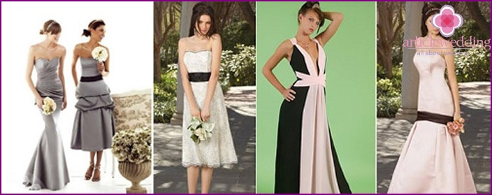 Successful dresses for bridesmaids
