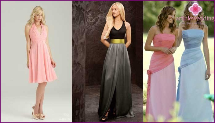 Options dresses for bridesmaid
